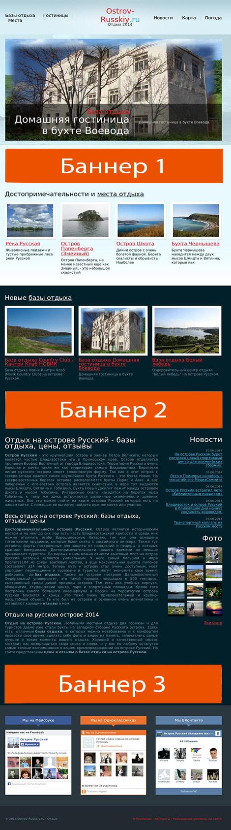 схема размещения рекламы на сайте ostrov-russkiy.ru  height=